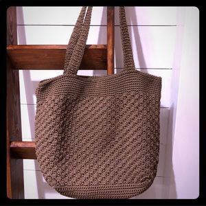 The Sak classic style purse shoulder bag Woven Tan